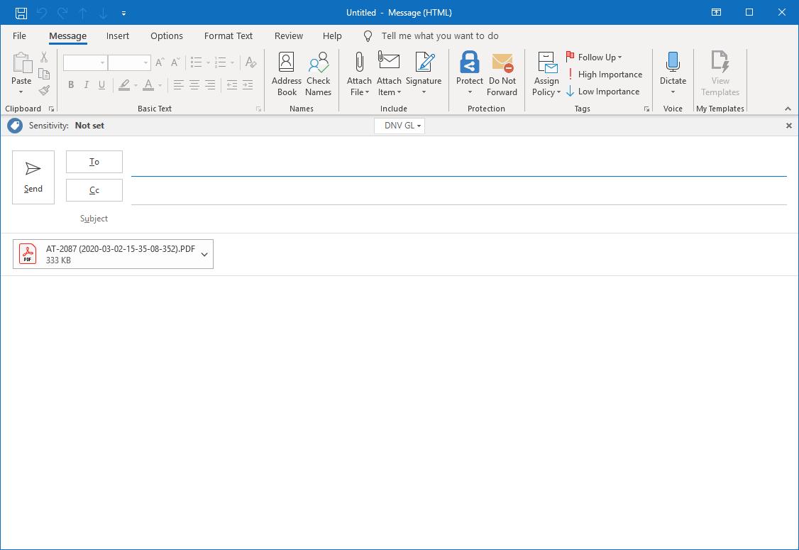 Screenshot - Empty E-Mail