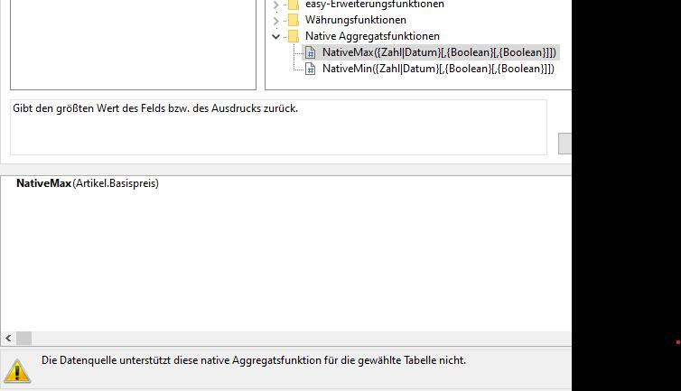 Fehlermeldung bei versuch NativeMin-Max zu verwenden I